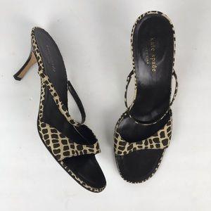Vintage 90s Kate Spade giraffe kitten heel sandals